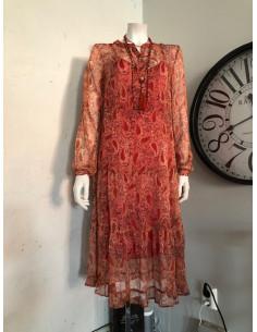 Continue Flora klänning Burned Paisley