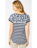 Cecil 315231 topp stripe animal